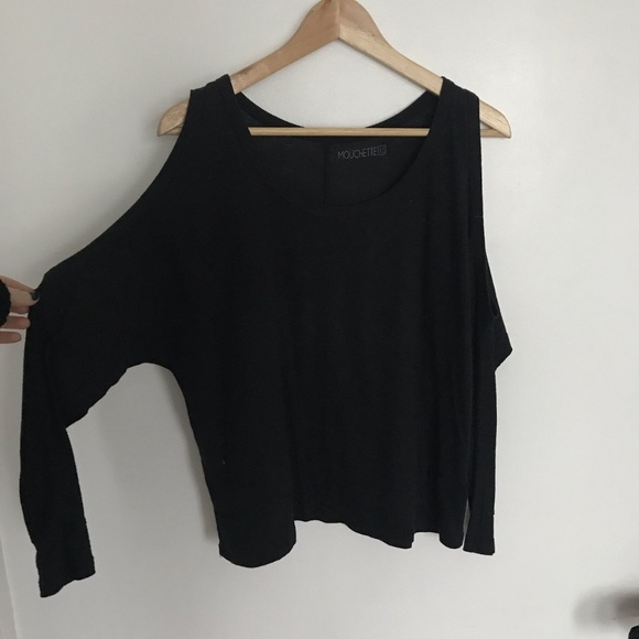a33c3a6a8c Urban Outfitters Tops   Mouchette Cold Shoulder Long Tee   Poshmark
